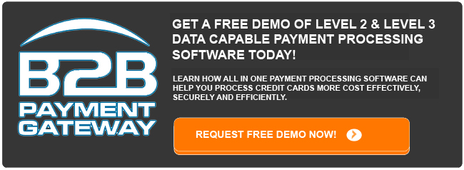 Get a free demo of level 2 and level 3 data capable payment processing software today